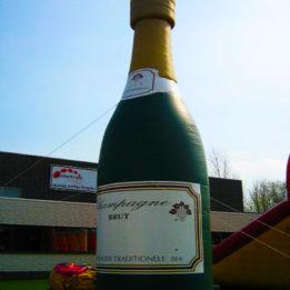 opblaasbare champagnefles huren